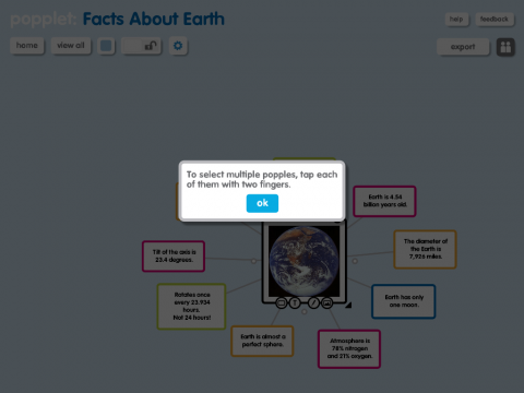 Popplet is one of the best ipad apps available for visual thinking